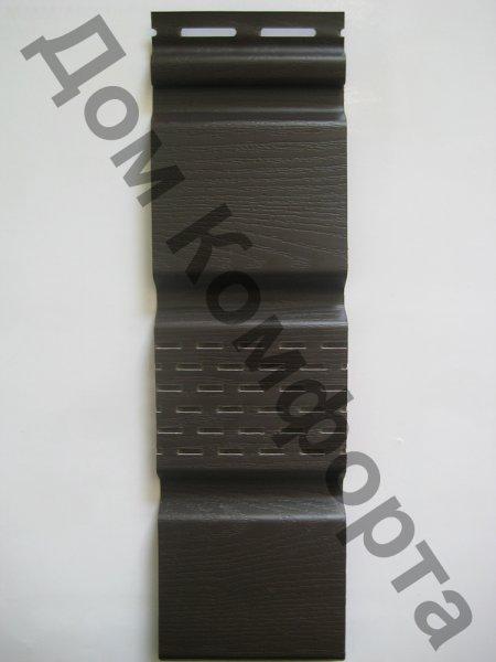Софит Grand line для подшивки соффитов, коричневый (сплошной и перфорированный)