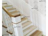 Фото 1 Лестница из дуба в белом оформлении 339008