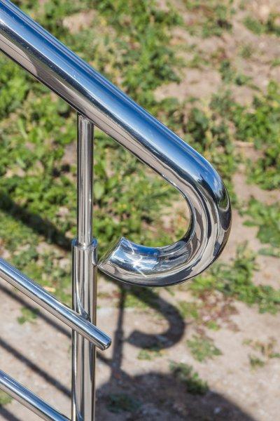 Фото 1 ограждения лестничных маршей из нержавейки 319312