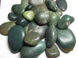 Галька ониксовая полированная Бирюза и зелень