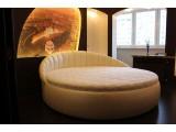 Круглая кровать Луна Евро. Изготовление круглых кроватей под заказ.