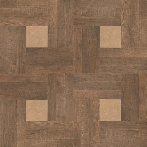 INTARSIO RECTIFIED NOCE 45*45 Современные технологии позволяют воспроизвести неповторимость каждого среза древесины.