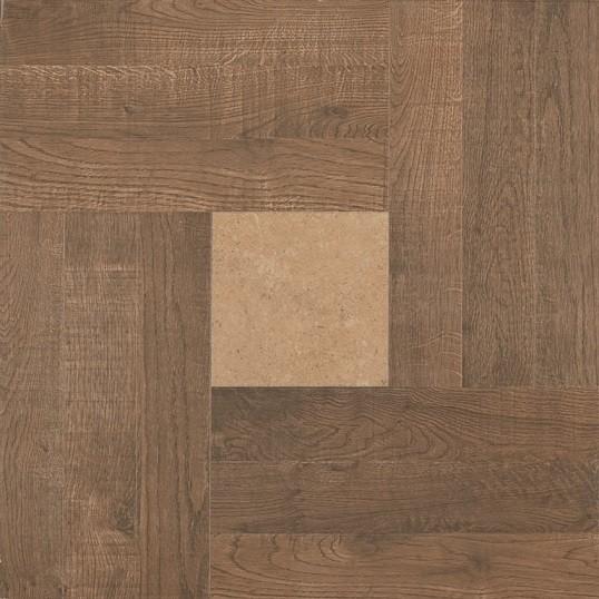 INTARSIO RECTIFIED NOCE 60*60 Cовременные технологии позволяют воспроизвести неповторимость каждого среза древесины.