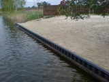 Искусственный пляж шпунт ПВХ