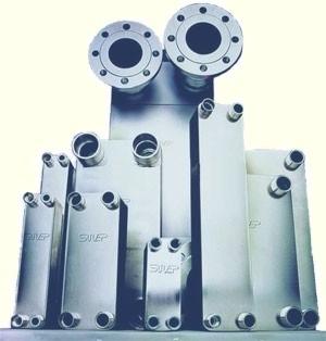 Испаритель, конденсатор, подогреватель горячей воды применяя современные паяные теплообменники SWEP.