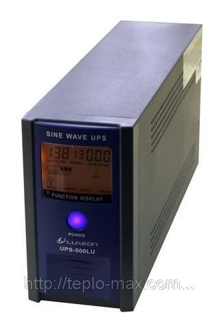 Источник бесперебойного питания для котла (ИБП) Luxeon UPS-500LU