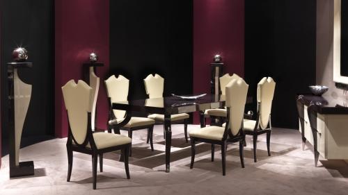 Итальянские столовые - элитные обеденные столы и стулья, материал - стекло, металл, массив дерева