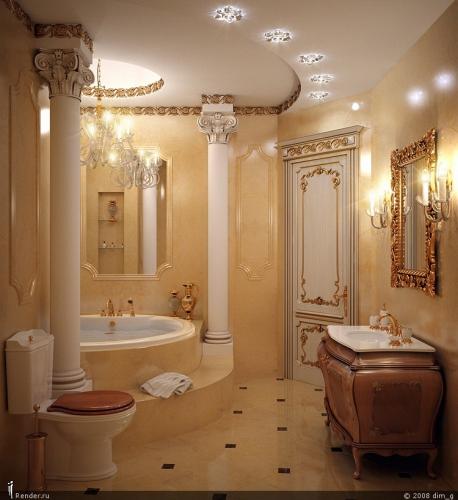 Изделия из мрамора и гранита в отделке ванных комнат
