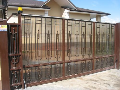 Изготовим автоматические откатные кованые ворота. Эксклюзивно, индивидуально.