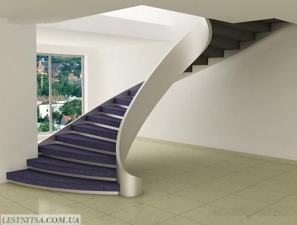 Изготовление бетонных лестниц