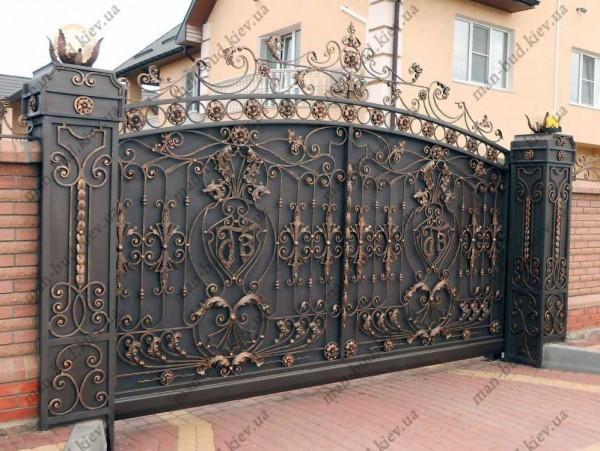 Изготовление кованых ворот любой сложности. Сайт Ман Буд