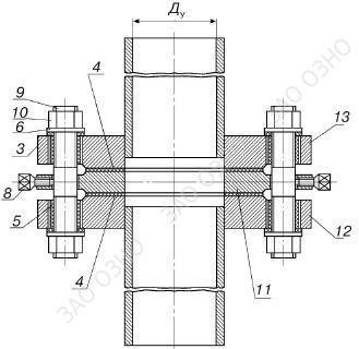Изолирующее фланцевое соединение Ду250 Ру16