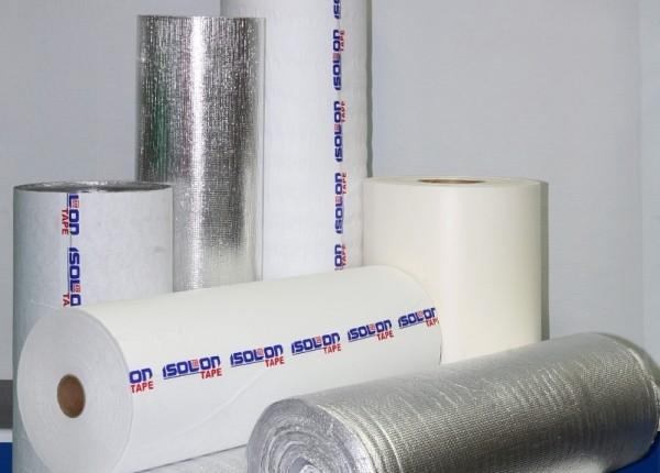 ИЗОЛОНТЕЙП (самоклеющийся) в качестве самоклеящегося теплоизоляционного материала.