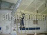 Изоляция потолков подвального этажа пенополиуретаном Elastospray