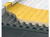 Изоляция промышленных плоских крыш из профнастила пенополиуретаном Elastospray