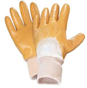 JOKI, перчатка на половину покрытая облегченным нитрилом, желтый или синий цвет, трикотажный манжет