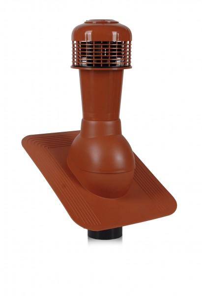 К43 - Вентиляционный выход WIRPLAST Normal 110 с вентилятором для кровли из битумной черепицы или металлической кровли