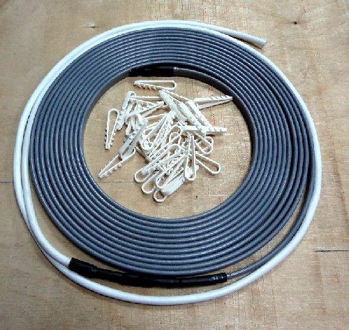 Кабель для обогрева труб длина греющего саморегулируемого кабеля 8м. п.