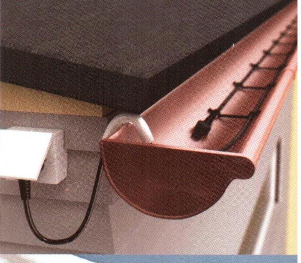 Кабель двухжильный DAS 30 Вт/м с термоограничителем и вилкой; для крыш, желобов и водостоков 20 м