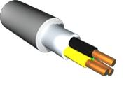 Кабель силовой с поливинилхлоридной изоляцией и оболочкой на напряжение до 0,66 кВ NYM 3х2,5