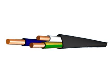 кабель ВВГ 3х4 1х2,5