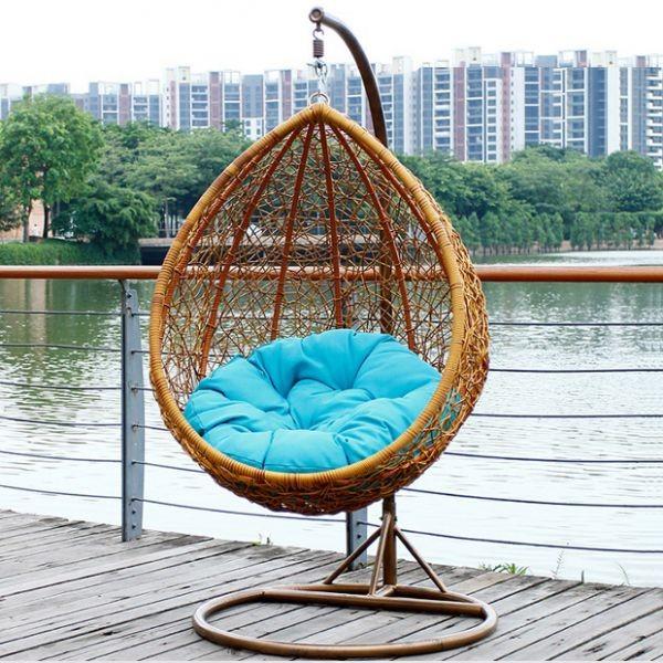 Подвесное Кресло - Качели Из Искусственного Ротанга