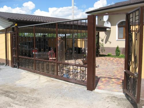 Качественно изготовим откатные металлические, кованые ворота.