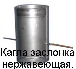 Шибер для дымохода нерж предназначен для регулирования тяги в трубе дымохода.