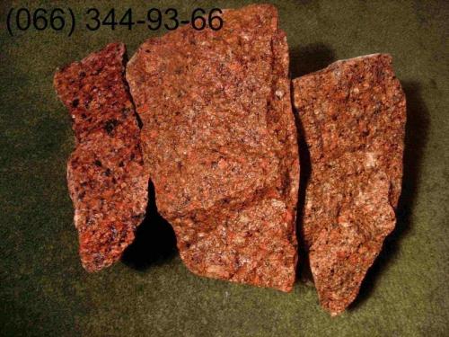 Камень бутовый, красный фр.150-350мм и 200-400мм. Доставка 16-ти и 40-а тонными самосвалами.