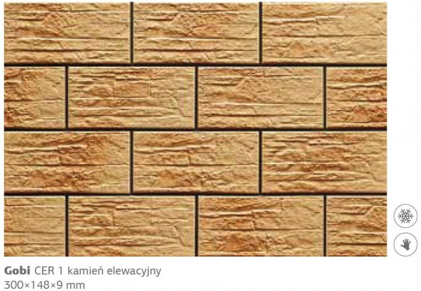 Камень фасадный Cer 1 300x148x9