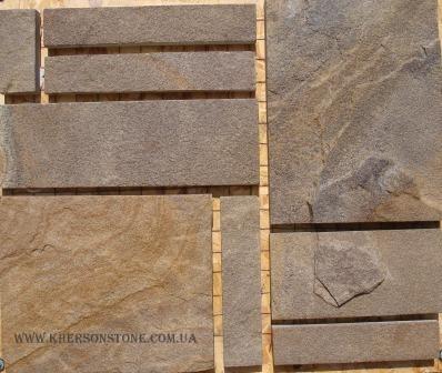 Камень песчаник Серо-коричневый.
