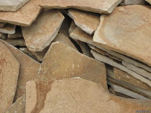 Камень песчаник желто коричневый