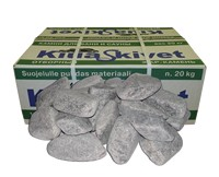 Камень для банных печей талько-хлорит шлифованный 1 уп. (20кг)