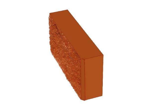 Камень заборный рваный 390*190*100 КРАСНЫЙ