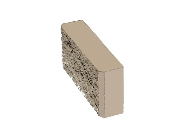 Камень заборный рваный 390*190*100 СЕРЫЙ