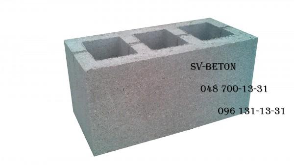 Шлакоблок из отсева щебня 40*20*20 Камень Одесса от производителя