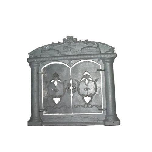Камин чугунный  Дубен  Размер: 770х750 Размер дверцы: 240х430 Материал: серый чугун марки СЧ -15