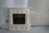 Камин Лехма с ровным стеклом, постоянного горения, водяная каминная вставка от производителя