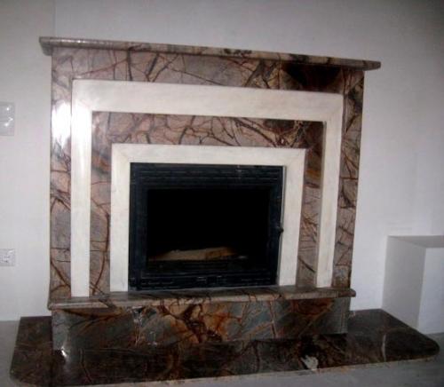 Камин мраморный Onyx-Bidasar. Проектирование, изготовление, монтаж.