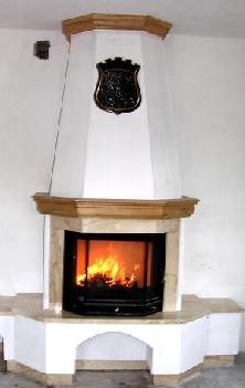 Камин с водяной рубашкой, стекло призма раздельная,15 кВт, круглосуточное горение!