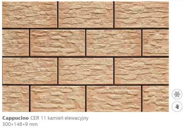 Камень фасадный Cer 11 300x148x9