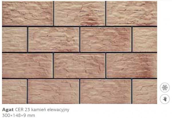 Камень фасадный Cer 23 300x148x9