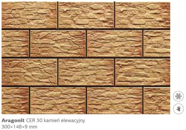 Камень фасадный Cer 30 300x148x9