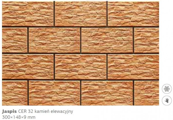 Камень фасадный Cer 32 300x148x9