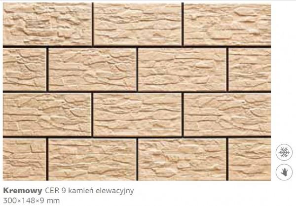 Камень фасадный Cer 9 300x148x9