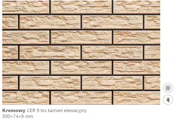 Камень фасадный Cer 9 бис 300х74х9