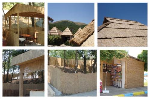 Камыш (плиты и рулоны). Использование: Навесы, крыши, перегородки, заборчики и т. д. Экологично, оригинально, недорого.