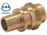 KAN-therm соединитель Push с манжетой 25х3,5 мм, 1/2 наружная резьба 9014.98
