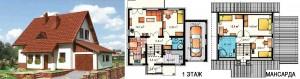 Канадский Дом 134,0 м2 368 y. e/м2 . , проект «КРАБ» - Технология SIP