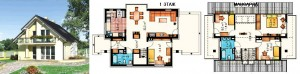 Канадский Дом 138,0 м2 за 369 y. e/м2 . ,проект «ВЕРБЕНА» - Технология SIP